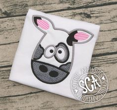 Terry /& Embroidered Iron On Applique Patch Dairy Baby Cow Farm