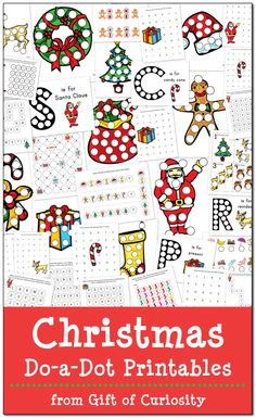 Christmas Do-a-Dot Printables: 35 pages of Christmas Do-a-Dot Worksheets for kids ages Love the letter and number worksheets as well as the bright graphics in this pack! Christmas Activities For Kids, Preschool Christmas, Free Christmas Printables, Kids Christmas, Preschool Activities, Christmas Crafts, Christmas Worksheets, Holiday Themes, Christmas Themes