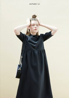 Oversized Midi Smock Dress with Collar Black http://www.thewhitepepper.com/collections/dresses/products/oversized-midi-smock-dress-with-collar-black #TWP