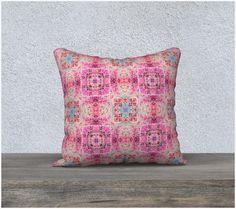 Soft Velveteen Zippered Throw Pillow Cover Pretty by artbyjocelyn
