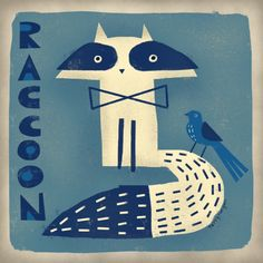 RACCOON--Terry Runyan Shop:  https://society6.com/product/raccoon-u2g_print#1=45