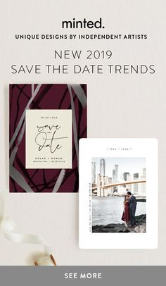 NEW 2019 save the dates from modern to botanical and everything in between. Browse designs by independent artists and enjoy OFF. Unique Save The Dates, Save The Date Photos, Save The Date Cards, Simple Wedding Bouquets, Wedding Colors, Save The Date Invitations, Modern Wedding Invitations, Our Wedding, Dream Wedding