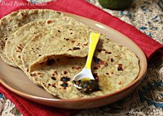 Aromatic Cooking: Basil Pesto Parathas