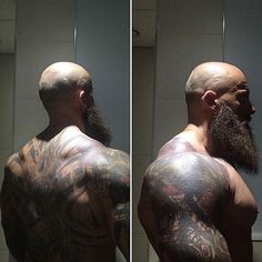 My Favorite Muscle Men Bald Men With Beards, Bald With Beard, Hot Beards, Bart Tattoo, Beard Quotes, Viking Beard, Scruffy Men, Awesome Beards, Bear Men