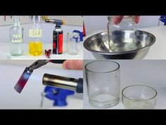 How to cut glass with your hands using water, oil, and a hot blade. Super easy and fast