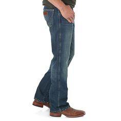 Wrangler Men's Retro Slim Fit Bootcut Jeans (Size: 36 x 36) Dark Blue