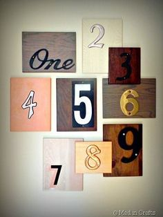 This Number Mash Up Wall Art is a great way to add some texture to an empty wall in your home. You could even use this dollar store wall art idea to put your address on your house! Wall sculpture art like this is easy and fun to make.