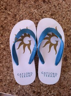 Gaylord flip flops for the pool!