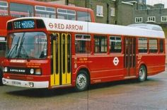 COLOUR BUS PHOTO, LONDON TRANSPORT PHOTOGRAPH PICTURE RED ARROW LEYLAND NATIONAL  | eBay