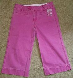 Women's GAP capris size 4 pink cropped pants cotton