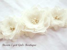 Ivory Bridal Sash Ivory Bridal Sash Ivory by browneyedgirlsboutiq