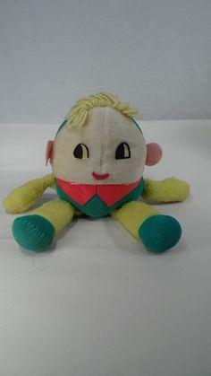Big Eyed VTG Plush Musical Chime Knickerbocker Joy of a Toy Humpty Dumpty Doll #Knickerbocker