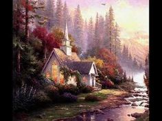 Thomas Kinkade Forest Chapel painting is shipped worldwide,including stretched canvas and framed art.This Thomas Kinkade Forest Chapel painting is available at custom size. Paintings I Love, Beautiful Paintings, Oil Paintings, Thomas Kinkade Art, Kinkade Paintings, Thomas Kincaid, Art Thomas, Wow Art, Kirchen