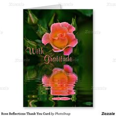 Rose Reflections Thank You Card