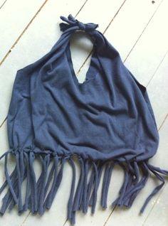 DIY No sew fringe Tshirt tote bag | Tealou & Sweetpea