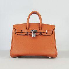 Hermes Birkin 25 with Silver Hardware (Potiron Orange)- : Hermes Birkin 25 with Silver Hardware (Potiron Orange)-www.versandhermes.com | starrquereto