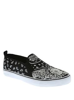 Paisley perfection // Paisley Skull Sneakers