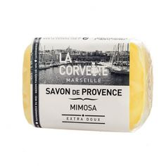 Jabón de la Provenza. Aroma Flor de Mimosa. Aceites vegetales. Sin parabenos. #cosméticanatural #jabonprovenza #mimosas #lacorvette #jabonnatural