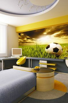 Sky Collection Circu Magical Furniture - Luxury brand for children Soccer Bedroom, Football Bedroom, Kids Bedroom, Home Bedroom Design, Bedroom Themes, Bedroom Ideas, Boy Room, Alcoves, Prince