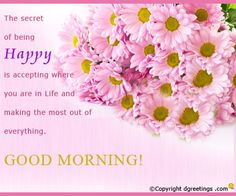 Good Morning to All...