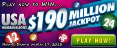 USA Megamillions Rollover: US$ 190M Jackpot on May 17