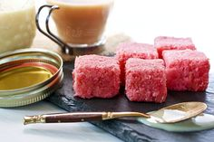 Delightfully sweet and tasty cubes of Coconut Candy made with dried grated coconut when freshly grated coconut is not available. Video included.