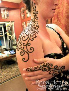 Kona Henna Studio - Fern Shoulder and Hand