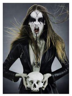 Women's Fashion Photography. Goth Rock, Death Metal, Pseudo-Occult Media Fashion