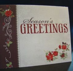 Christmas Photo Album Greeting Card Idea~~LOOOOVE IT!