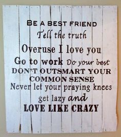 Love Like Crazy - Wood Sign, Pallet Art, Shabby Chic