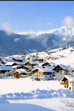 Snowy winter in Laax, one of the many great ski resorts in the Swiss canton of Graubünden.