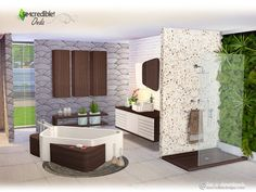 Created By SIMcredible! Onda Created for: The Sims 4 This is a Set with 12 Creations Sinuous and modern lines are the Onda's set imprint. This bathroom pieces have mostly 4 colors and lots of ways to. Sims 3, Sims 4 Mods, Sims 4 Teen, Sims 4 Game, Sims 4 House Building, Sims House Plans, Teen Bathrooms, Muebles Sims 4 Cc, Sims 4 House Design