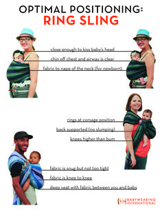 Safety information for every type of baby wearing sling : Babywearing International