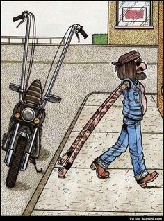 I sent this to my love, he has the ape hangers use to have speakers on them. We'd ride and listen to his music