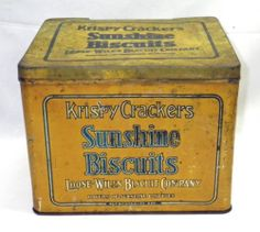 Vintage Krispy Crackers SUNSHINE BISCUITS Loose- Wiles Biscuit Company Tin