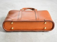 Interesting satchel configuration. Herz Japan.