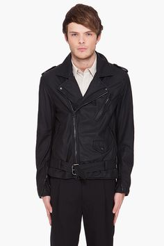 3.1 PHILLIP LIM //  SOFT LEATHER DETACHABLE SLEEVED JACKET