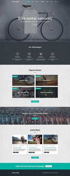 Bike Rental Services #website #template. #themes #business #responsive #websitethemes