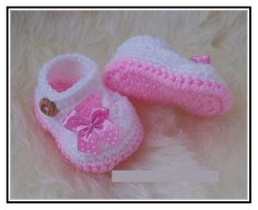 Crochet Baby Girl Shoes Free Pattern