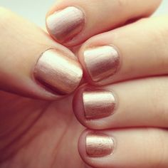 """Lovely rose gold nails - L'Oreal's """"Charmed, I'm Sure"""""""
