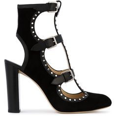 Jimmy Choo Hainsley 100 Booties (65.850 RUB) ❤ liked on Polyvore featuring shoes, boots, ankle booties, black, jimmy choo booties, black boots, jimmy choo, jimmy choo boots and black ankle booties