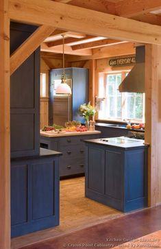 Traditional Blue Kitchen Cabinets  #02 (Crown-Point.com, Kitchen-Design-Ideas.org)