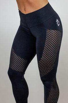 1c6278f4a Bootyqueen Laser Cut Legging Double Black Calcetas De Correr, Polainas De  Malla, Los Leggins