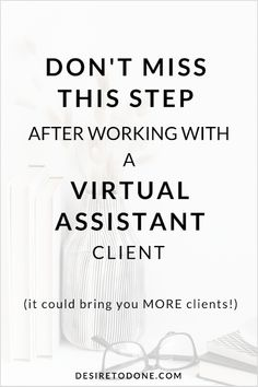 This one step often gets overlooked by VAs, and yet it has the potential to help you land even MORE virtual assisant clients. Home Based Business, Business Tips, Online Business, Make Money From Home, How To Make Money, How To Become, Virtual Assistant Services, Quitting Your Job, Career Advice