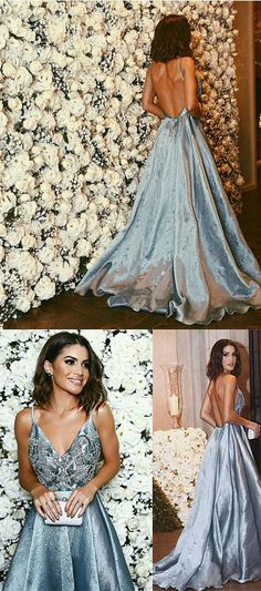 2017 Prom Dresses,Pretty V-Neck Evening Dresses,Ball Gowns Prom Dresses,Blue Prom Dresses,Sweet 16 Dress,Sexy Gown For Teens