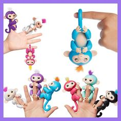 happy monkey pack Finger monkey Interactive Baby Unicorn Mini finger unicorn Smart Sensor Finger sloth Smart Induction Toy