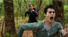 I swear... I can't breath... His Face!!!!!!! HAHAHAHAHAHA Hunger games and Maze runner