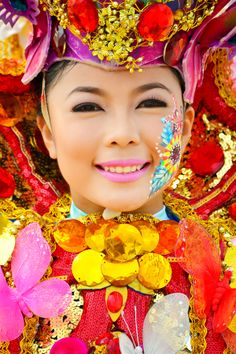 Pintaflores Flower Queen, San Carlos City, Phillipines  Photo by Wilfredo Lumagbas Jr., via 500px