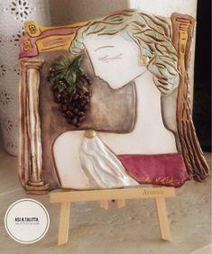 Greek Woman, Sculpture Head, Ceramic Decor, Art Object, Whimsical Art, Types Of Art, Ancient Greek, Clay Art, Sculpting