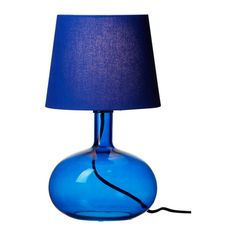 Absolutely love the rich blue glass base on this lamp! Available at Ikea in San Diego (but not Tempe)